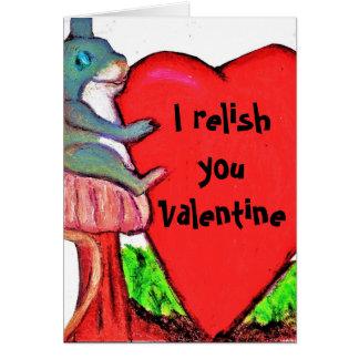 JE VOUS AIME carte de plaisanterie de VALENTINE