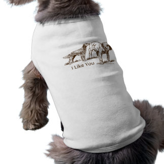 Je vous aime poursuivre l'humour t-shirt pour chien
