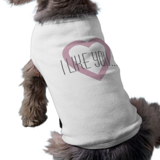 Je vous aime T-shirt rose de sonnerie de chienchie T-shirt Ringer Pour Chien