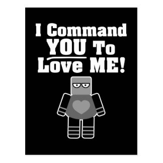 Je vous commande de m'aimer robot cartes postales