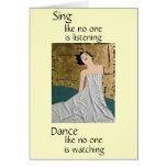 Je vous espère danse carte de vœux