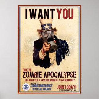 Je vous veux - apocalypse de zombi - VALEUR SUPERB Affiche