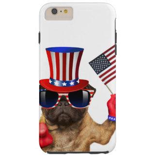 Je vous veux, carlin, chien d'Oncle Sam, Coque Tough iPhone 6 Plus