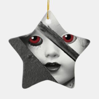Je vous vois ornement étoile en céramique