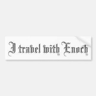 """""""Je voyage avec l'adhésif pour pare-chocs d'Enoch"""" Autocollant De Voiture"""