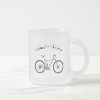 """""""Je Wheelie vous aime"""" tasse vintage de bicyclette"""