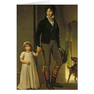 Jean-Baptiste Isabey et sa fille Carte De Vœux