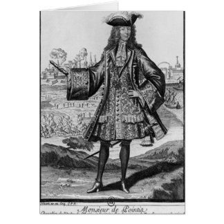 Jean Bernard Desjean Baron de Pointis Carte De Vœux