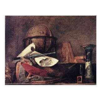 Jean Chardin- les attributs des sciences Carte Postale