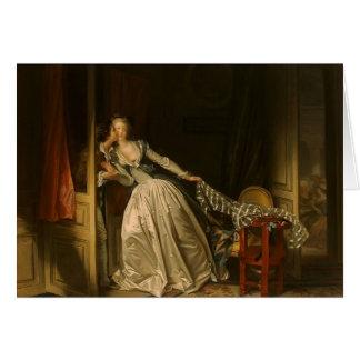 Jean-Honore Fragonard- le baiser volé Carte De Vœux