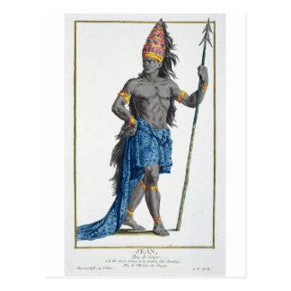 Jean, roi du Congo, gravé par Pierre Duflos Carte Postale