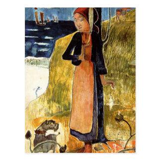 Jeanne D'Arc, ou fille bretonne tournant Paul Carte Postale