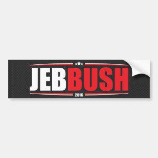 Jeb Bush 2016 (étoiles et rayures - noir) Autocollant De Voiture