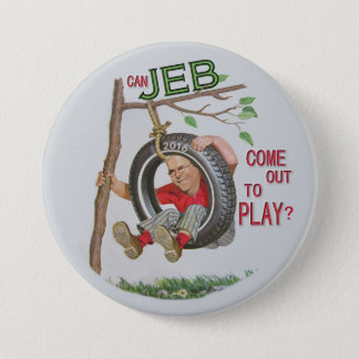 Jeb peut-il sortir pour jouer ? pin's