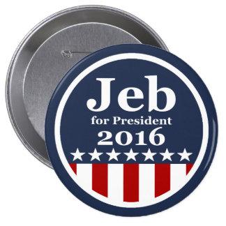 Jeb pour des boutons de président 2016 campagne badges