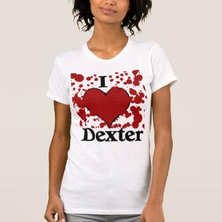 J'éclabousse le T-shirt de Dexter de coeur