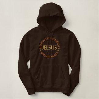 Jeesus, Jésus dans finlandais - roi des rois et du Sweat-shirts À Capuche Brodés
