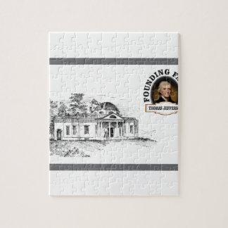 Jefferson en Monticello Puzzle