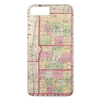 Jefferson, Franklin, comtés de Williamson Coque iPhone 7 Plus
