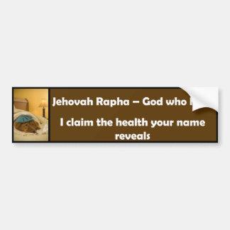 Jéhovah Rapha Autocollant De Voiture