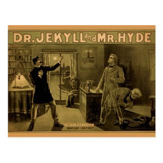 Jekyll et Hyde - carte postale