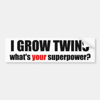 J'élève des jumeaux, ce qui est la votre superpuis autocollant de voiture