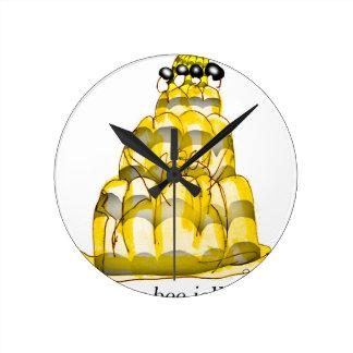 jello élégant d'abeille du miel des fernandes horloge ronde
