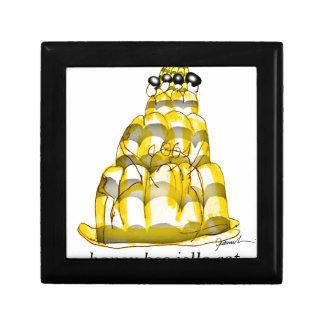 jello élégant d'abeille du miel des fernandes petite boîte à bijoux carrée