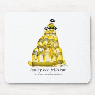 jello élégant d'abeille du miel des fernandes tapis de souris