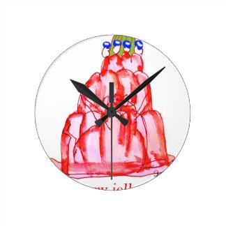 jello élégant de la cerise des fernandes horloge ronde
