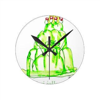 jello élégant du kiwi des fernandes horloge ronde