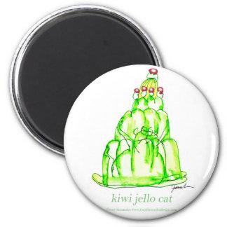jello élégant du kiwi des fernandes magnet rond 8 cm