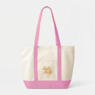 "JEM Madame"" grand sac fourre-tout rose ""de patron"