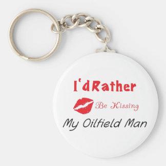 J'embrasserais plutôt mon homme de gisement de porte-clé rond