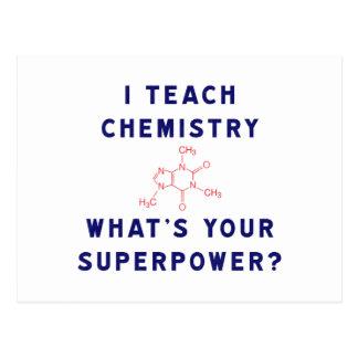 J'enseigne à chimie ce qui est la votre cartes postales