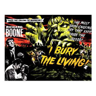 """""""J'enterre"""" (les 1958) cartes postales vivante"""