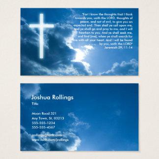Jérémie 29 ; 11- chrétien pipe% bleu de 14 % cartes de visite