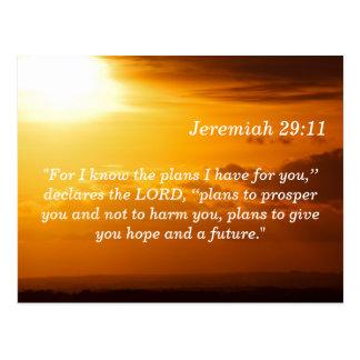 Jérémie 29 carte de mémoire d'écriture sainte de