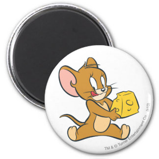 Jerry aime son fromage magnet rond 8 cm