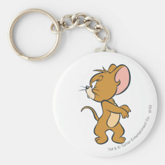 Jerry regardant de retour contrarié porte-clé rond