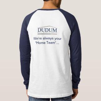Jersey de douille raglane de bleu marine t-shirt