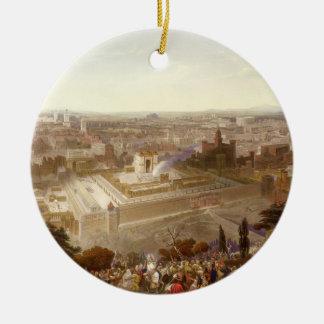 Jérusalem dans sa splendeur, gravée par Charles Ornement Rond En Céramique