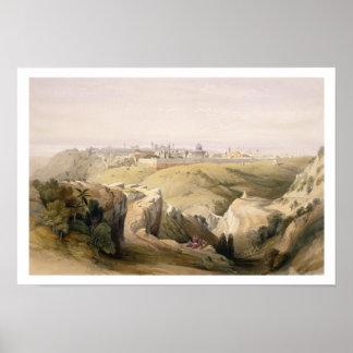 Jérusalem du mont des Oliviers, le 8 avril 1839 Posters
