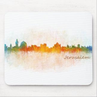 Jérusalem Israël Ville Skyline Tapis De Souris