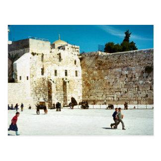 Jérusalem, le mur occidental carte postale