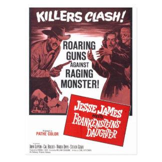 Jesse James rencontre la carte postale de fille de