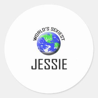 Jessie le plus sexy du monde sticker rond