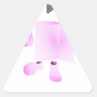 j'essuie ton père sticker triangulaire