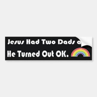 Jésus a eu deux papas et il s'est avéré LGBT Autocollant Pour Voiture