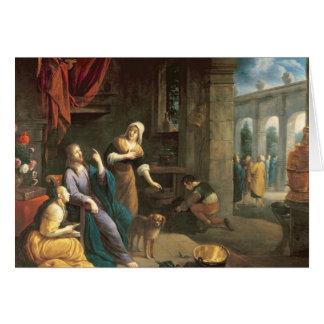 Jésus à la maison de Martha et de Mary Carte De Vœux